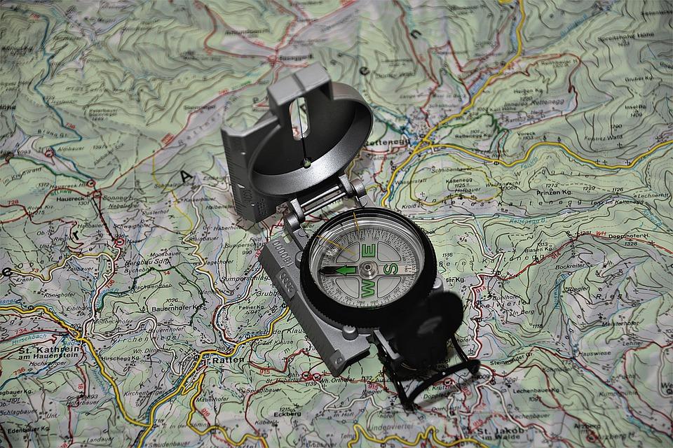 carta topografica orientamento