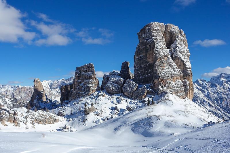 Ciaspolata sulle Cinque Torri a Cortina