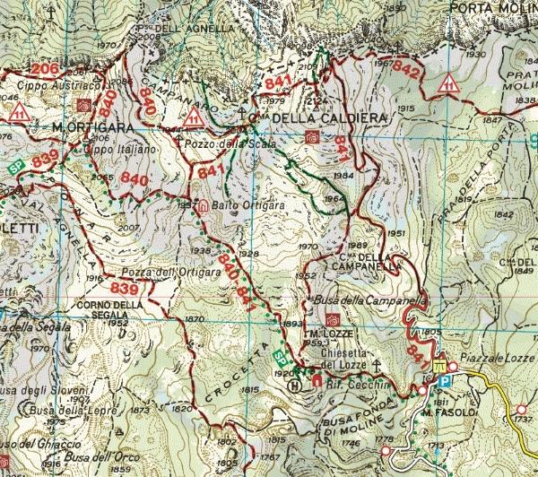 cartina cima ortigara