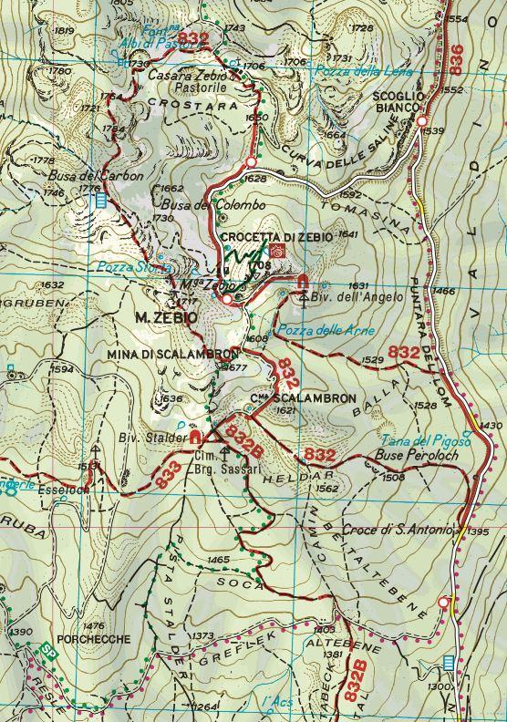 cartina monte zebio