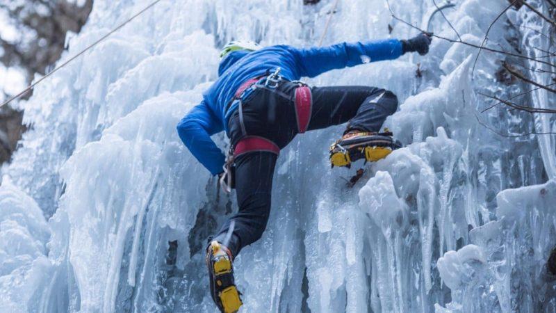 cascate di ghiaccio arrampicata