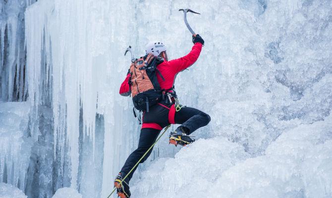 scala delle difficoltà cascate di ghiaccio